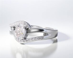 PAVE SOLITAIRE RING ENG045
